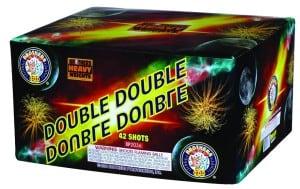 Double Double - 42 Shots - 500 Gram Cakes - Fireworks