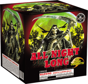 All Night Long - 16 Shots - 500 Gram Cakes - Fireworks