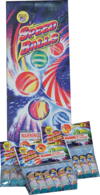 Speed Balls Box - Sky Flyer - Helicopter - Fireworks