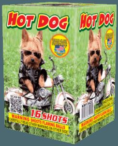 Hot Dog - 16 Shots- 200 Gram Aerials - Fireworks